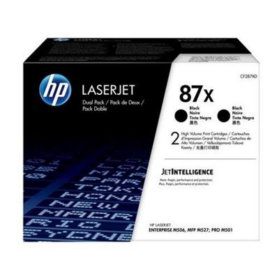 HP 87X 2-Pack High Yield Black Original LaserJet Toner Cartridges Multipack CF287XD