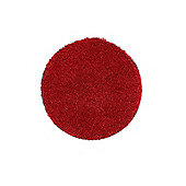 Buddy Washable Shaggy Stain Free 100 Circle Red