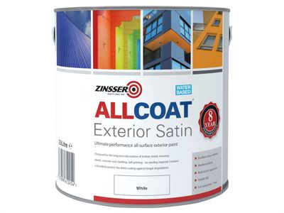 Zinsser ALLCOAT Exterior White Primer / Finish 2.5 Litre