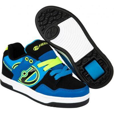 Heelys Flow Royal/Black/Lime Kids Heely Shoe UK 3