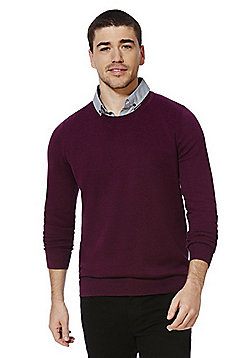 F&F Mock Shirt Layer Jumper - Plum