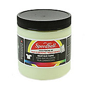 Speedball Night Glo Fabric Screen Printing Ink - White 236ml