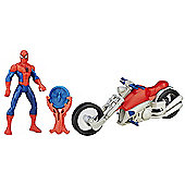 Marvel Ultimate Spider-Man Sinister 6 Web City Cycle Vehicle - Spider-Man with Speed Cycle