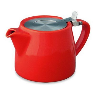 Forlife Stump Infuser Teapot 13oz in Red
