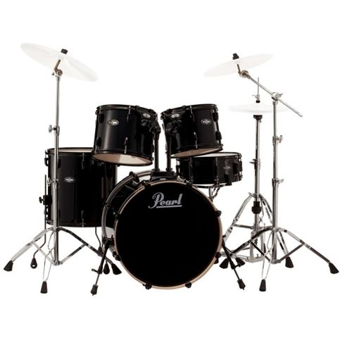 Pearl Vision VB 5 Piece Drum Kit in Black