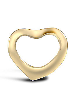 Jewelco London 9ct Solid Gold heart shaped pendant