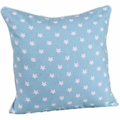 Homescapes Cotton Blue Stars Cushion Cover, 60 x 60 cm