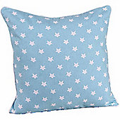 Homescapes Cotton Blue Stars Scatter Cushion, 60 x 60 cm