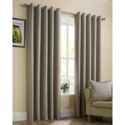 Memphis Gold Eyelet Curtains - 46x54 Inches (117x137cm)
