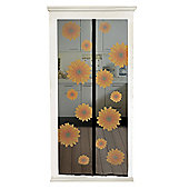 Magnetic Snap-shut Door screen - Sunflowers