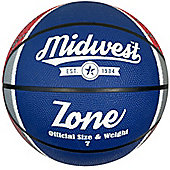 Midwest Zone Basketball Blue/White/Red Size 5