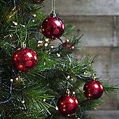12pcs 6cm Shatterproof Red Foil Christmas Tree Bauble Decorations