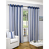 Newquay Eyelet Curtains 168 x 137cm - Blue