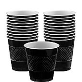 Black Plastic Cups 266ml, Pack of 20
