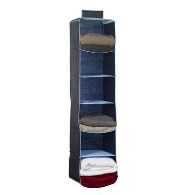 Russel Six Pocket Wardrobe Organiser, Navy