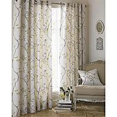 Riva Home Rosemoor Eyelet Curtains - Natural