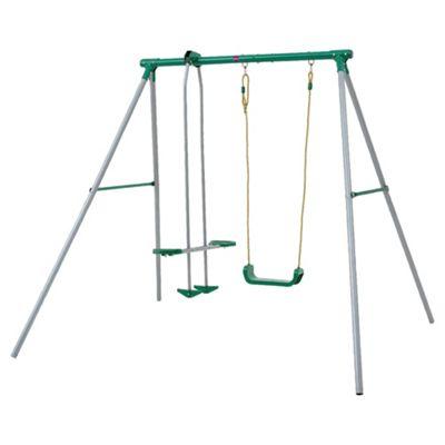 Plum Single Swing & Glider Set