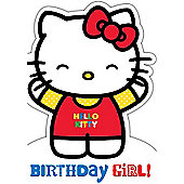 Hello Kitty Birthday Card