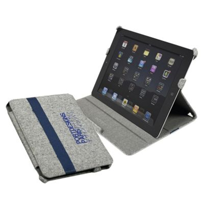 Port Designs Kobe iPad Canvas Case with integrated Stand Grey/Blue