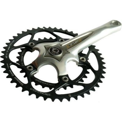 Stronglight Z'Light Compact Chainset: 34/48T Silver 175mm.