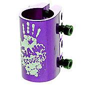 Slamm Quad Collar Clamp - Anodised Purple