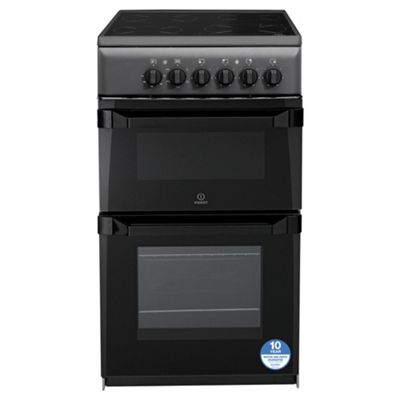 Indesit Electric Cooker, IT50CAS, Anthracite