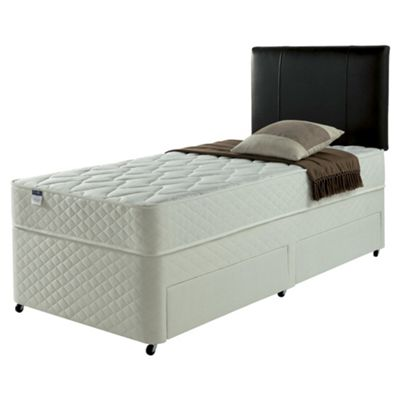 Silentnight Taplow Single Divan Bed, Non-Storage, Miracoil Comfort