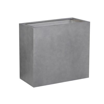 Brackenstyle Light FIBREstone Pot Rectangle Slate Grey - Medium