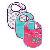 B Newborn's Mummy and Daddy Bibs - 3 Pack