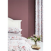Catherine Lansfield Botanical Gardens Coral 66x72 Inch Eyelet Curtains