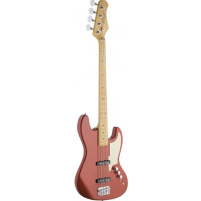 Stagg SBJ-50 MRD Custom J Electric Bass 4 String Guitar - with 6 Months Free Online Lessons