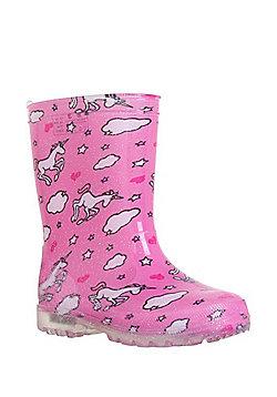 F&F Light-Up Unicorn Wellies - Pink