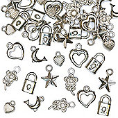 Silver Bracelet Charms (Pack of 90)