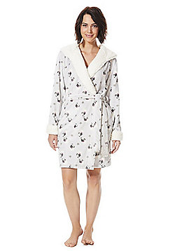 F&F Pug Print Dressing Gown - Multi grey