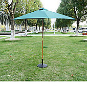 Outsunny 2.5m Wood Wooden Garden Parasol Umbrella Green
