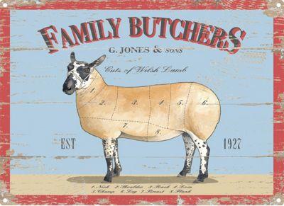 Family Butchers Tin Sign 30x40cm,