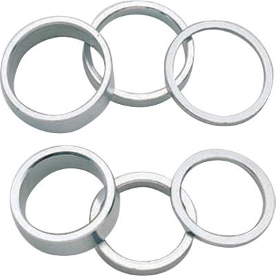 Acor 1inch Alloy Spacers: 2mm Silver. Set Of 10
