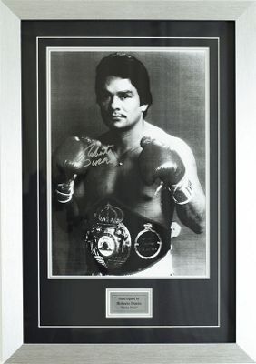 Hand Signed Roberto Duran Stone Fists Boxing Photo Framed Print 3 Display + COA