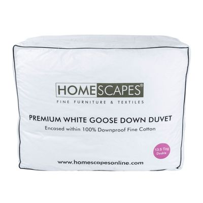 Premium White Goose Down 13.5 Tog Double Size Winter Duvet