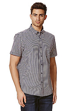 F&F Gingham Check Short Sleeve Shirt - Pink