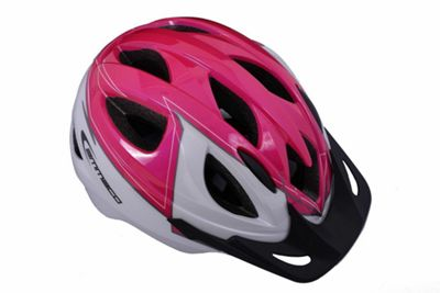 Ammaco Girls Kids Bike Helmet Pink/White 46-53cm