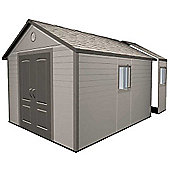 11ft x 18.5ft Duramax Plus Plastic 11x18.5 Apex Shed with Plastic Floor + 4 windows (3.37m x 5.65m) 11 x 18.5
