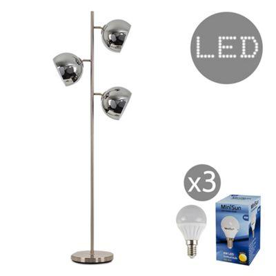 Elliott 150cm LED Floor Lamp - Chrome