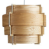 Persia 4 Tiered Ceiling Pendant Light Shade, Wood Venner