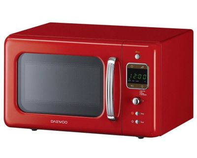 Buy Daewoo KOR7LBKR 800W Red 20L Retro Collection Microwave from our