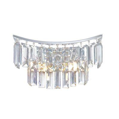 Gianni Wall Lamp 2 Light Polished Chrome/Crystal