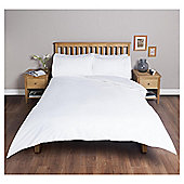Tesco Cotton Rich Plain Dye Double Duvet Cover, - White