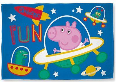 George Pig Fleece Blanket - Planets