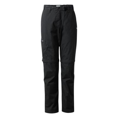 Craghoppers Ladies Kiwi II Convert Trousers Black 14 Long Leg
