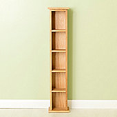 Carne Oak Narrow DVD Tower - Light Oak